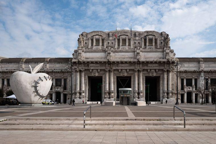 Der Hauptbahnhof in Mailand.