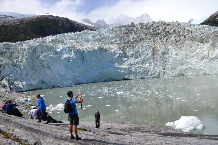 Im Beagle-Kanal reiht sich ein Gletscher an den anderen.