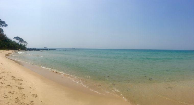 Mit etwas Glück sind Reisende ganz allein am Vung Bau Beach.