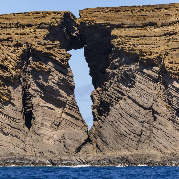 Auch diese bizarre Felsformation gehört nicht zu Ni'ihau, sondern zu der vorgelagerten Insel Lehua.