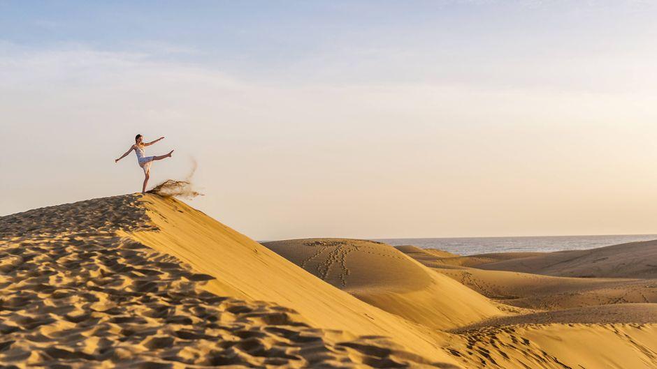 Die Dünen Maspalomas auf Teneriffa sind einzigartig.