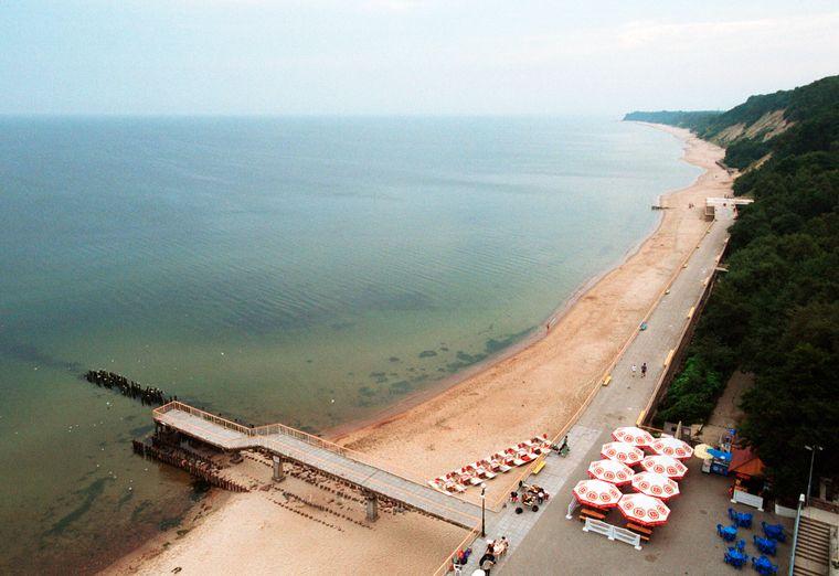Blick auf den Strand von Swetlogorsk im einstigen Ostpreußen.