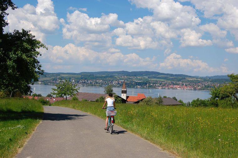 Der Bodensee-Radweg ist 270 Kilometer lang, 170 davon liegen in Deutschland. Er belegt Platz 5 im ADFC-Ranking der beliebtesten Radwege.