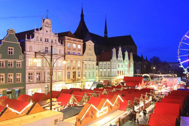 Weihnachtsmarkt in Rostock.