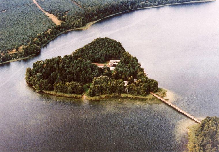 Die Herzinsel in Mecklenburg-Vorpommern.