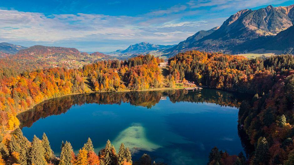 Herbsttag in Bayern am Freibergsee – ein Traum von Indiam Summer, oder?!
