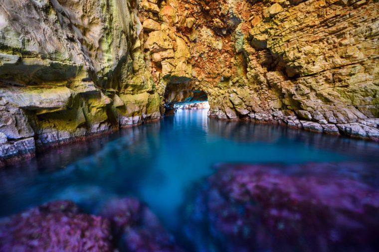 Odysseus-Höhle in Kroatien.