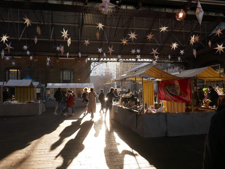 """Etwas versteckt befindet sich der """"Canopy Market""""."""