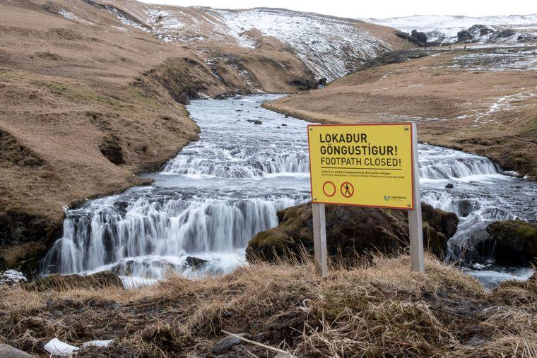 Wege am Skogafoss werden gesperrt