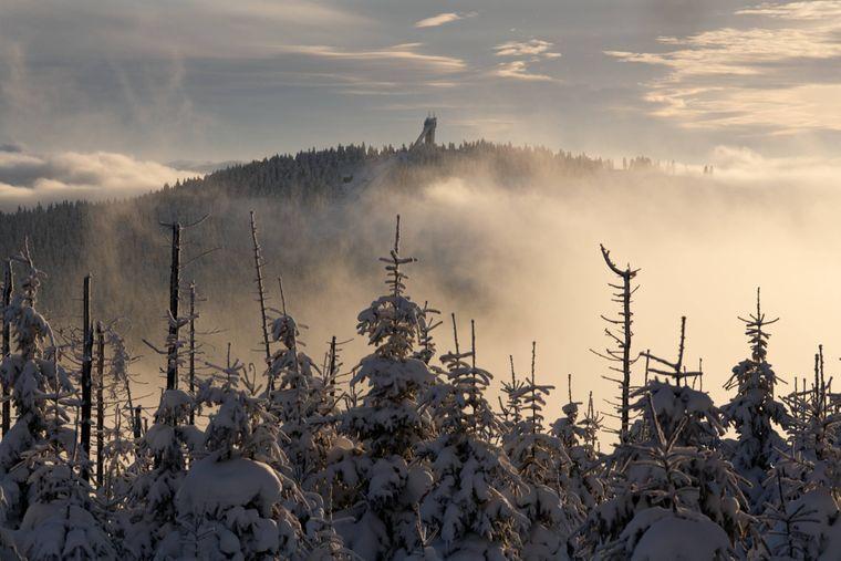Der Wurmberg im Harz ist in der Abenddämmerung besonders schön.