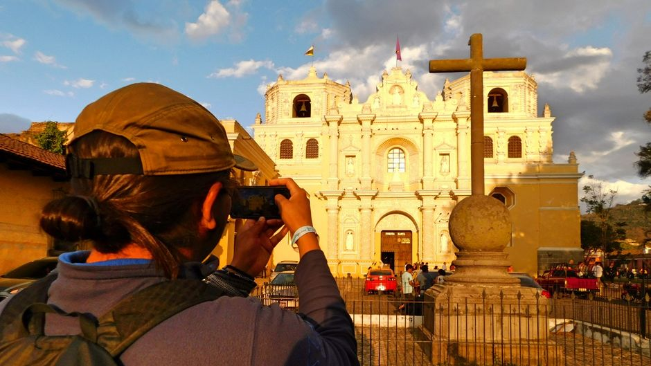 Gabryl dokumentiert seine Reise mit dem Smartphone.