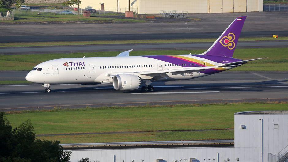 Thai-Airways-Flugzeug Boeing 787 Dreamliner.