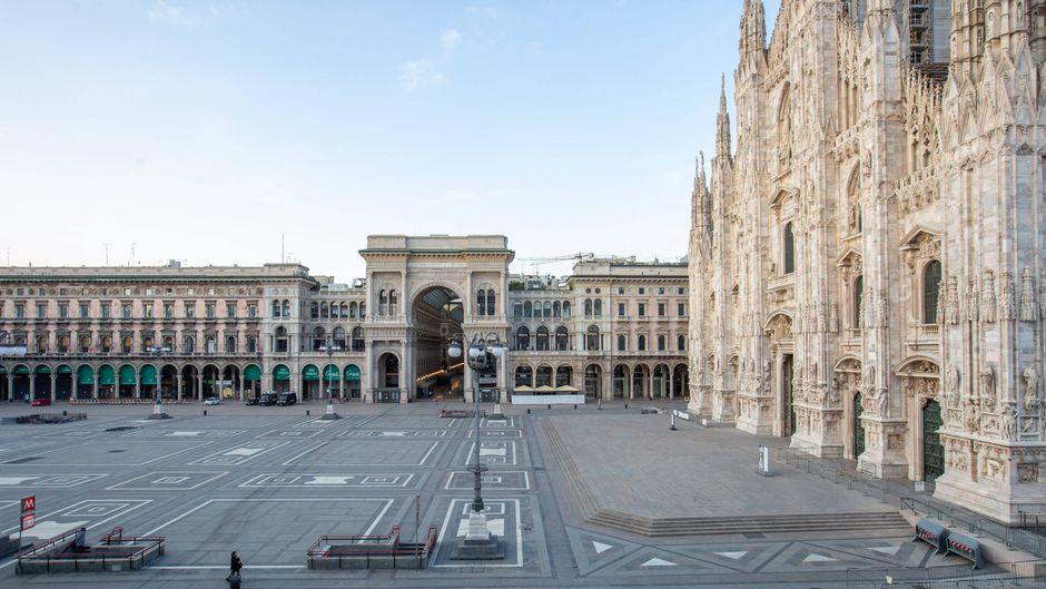 Mailand ist in Zeiten der Corona-Krise menschenleer.