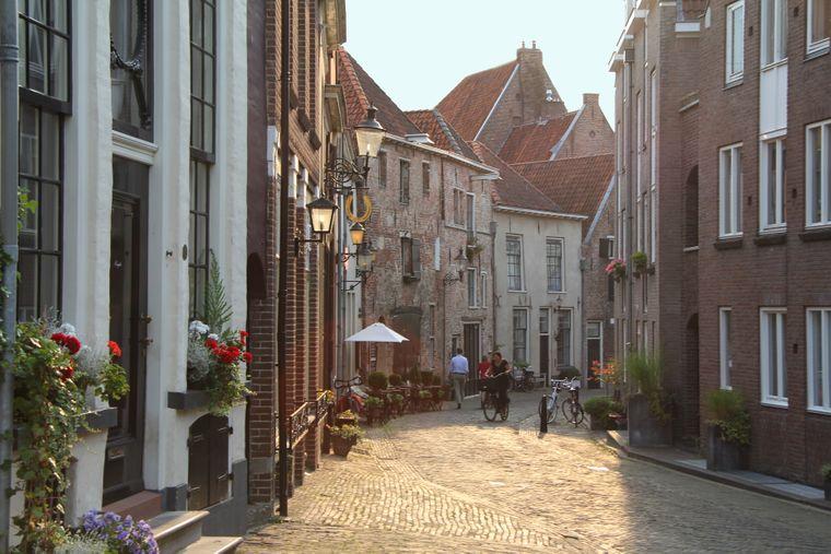Das Bergkwartier ist das historische Viertel von Deventer.