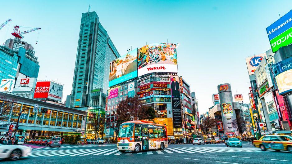 Die Millionenstadt Tokio ist ein buntes Lichtspektakel – sogar am Tag.