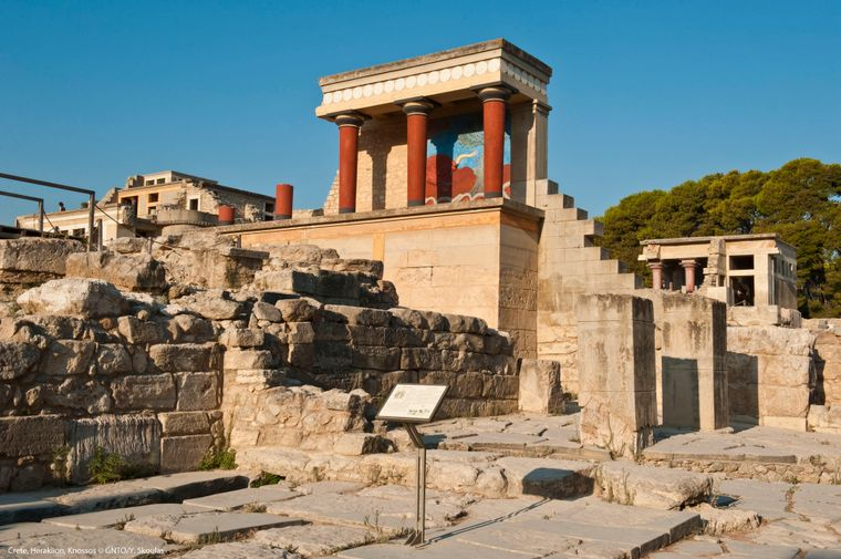 Der antike Palast von Knossos in Heraklion.