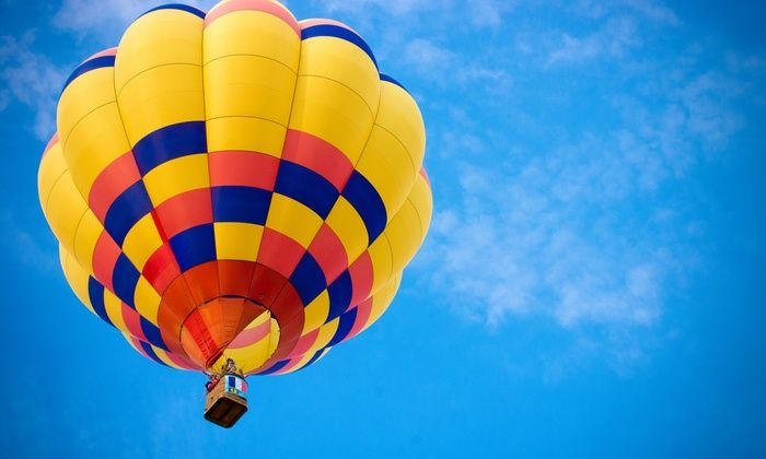 Heißluftballonfahrt über Berlin.