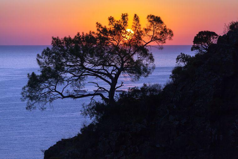 Was für Farben am Strand von Olympos an der Ostküste Lykiens.