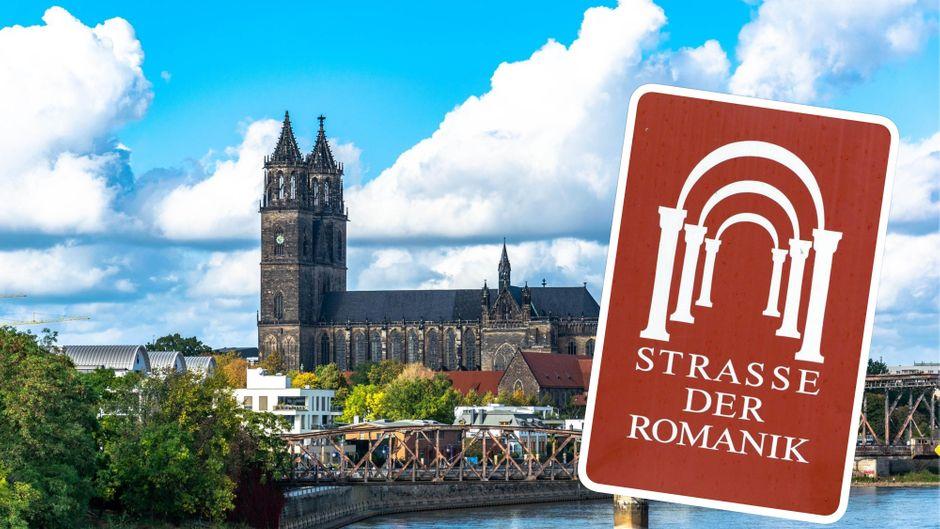 Der Dom von Magdeburg ist nicht nur das Wahrzeichen der Stadt, sondern auch gern gewählter Startort für Touren auf der Straße der Romanik.