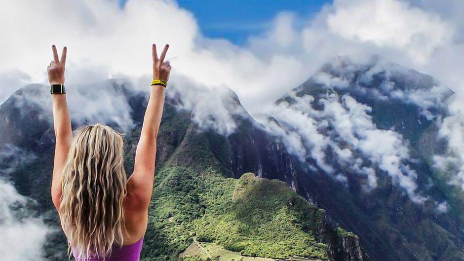 Megan Sullivan am Macchu Picchu, Peru