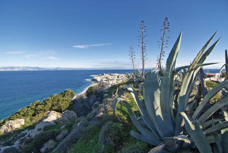 Blick vom Monte Smith in Rhodos-Stadt.