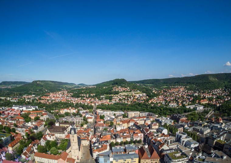 Blick auf Jena, Thüringen.