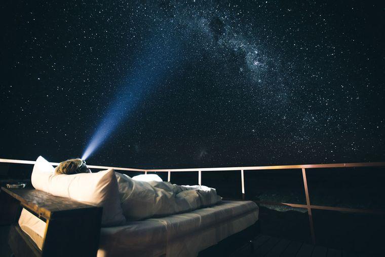 So sah das Nachtlager von Sebastian und seiner Freundin in der Namib Wüste aus.