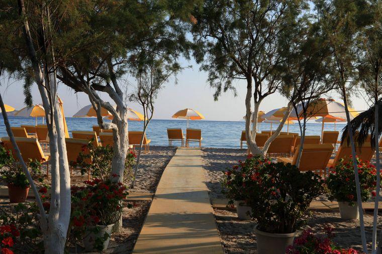Die griechische Insel Kos ist die drittgrößte Dodekanes-Inseln in der Ägäis.