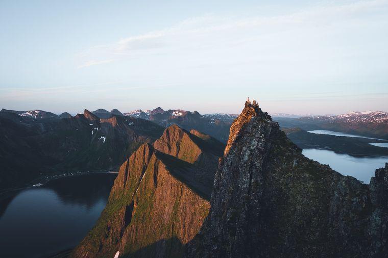 Nando in Husfjellet in Norwegen unterwegs.