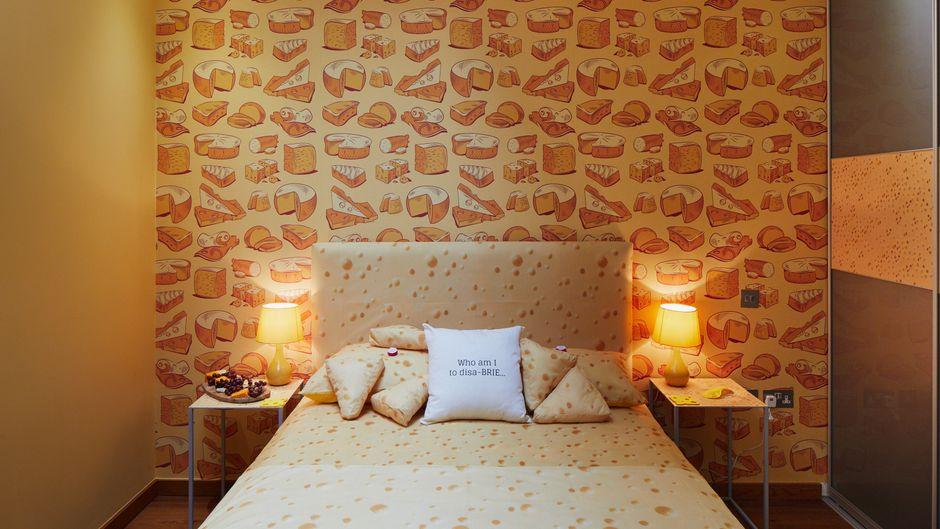Blick in die Cheese Suite des Café Rouge in London.