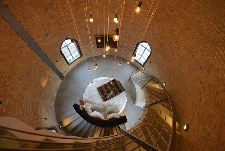 Der einstige Wasserturm wurde von Grund auf saniert und bietet heute eine wundervolle Herberge für erholsame Nächte.