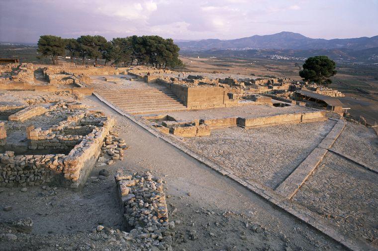 Der Palast von Festos im Süden der Insel.